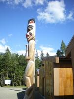 Totem Pole at Visitor Centre