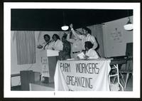 Farm Workers Organizing Committee meeting, circa 1979.