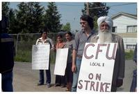 Country Farm Natural Foods strike in Richmond, BC, April 8, 1981. Country Farm Natural Foods Ltd strike is the first picket line of the Canadian Farmworkers Union.
