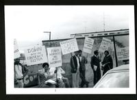 Farm Workers Organizing Committee rally, Mission, BC, May 13, 1979. Down with the Contract System.